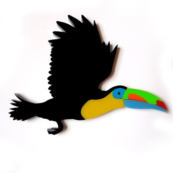 Toucan Necklace in Black