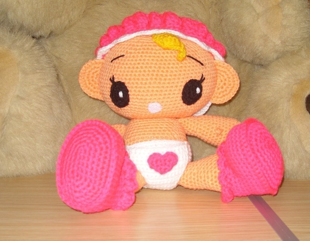 Amigurumi Kawaii Baby Girl pattern by MamanFeeCrochet on Etsy