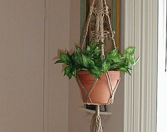 Macrame Plant Hanger Double DRAGONFLY