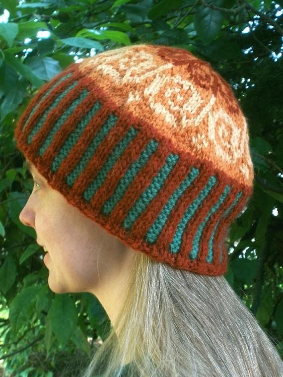 Autumn Swirl Fair Isle Knitted Cap