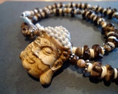 Serenity in Phoenix Jasper Buddha Necklace