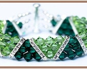 GREEN WITH ENVY swarovski crystal spacer bracelet