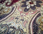 Vintage Fabric Retro Jacquard Paisley Upholstery Tapestry Fabric Crafts Supplies Sewing Quilting Needle Crafts Fabric by the Yard