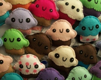 Cute Cupcake Magnets Select Your Colors