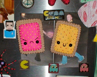 Happy and Angry Pop Tart Magnet Set
