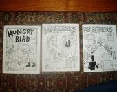 Hungry Bird and Mr. Eerieous 1 and 2 minicomics