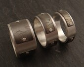 Sterling Silver and Titanium Ring -- RESERVED for Kate