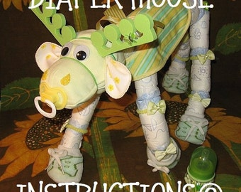 Diaper moose instructions. Learn to make Morty the Moose from diapers and such. He's adorable