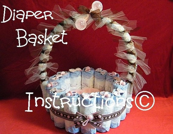 Diaper basket instructions easter basket mothers day like this item negle Gallery