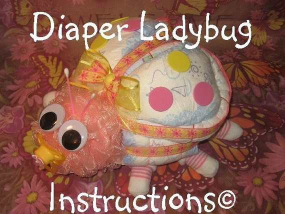 train diaper cake instructions