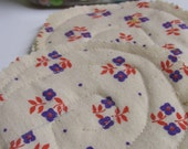 Quilted Coasters made with Vintage fabric