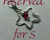 Reserved for S -- Lucky Star Charm with Ruby Crystal