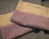 Pillowcase Set Purple Floral Standard Size