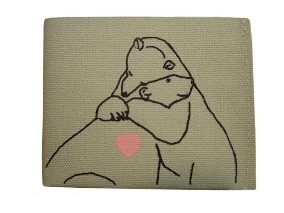 Hugging Polar Bear Wallet
