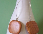 Mod Wood Dangle Earrings