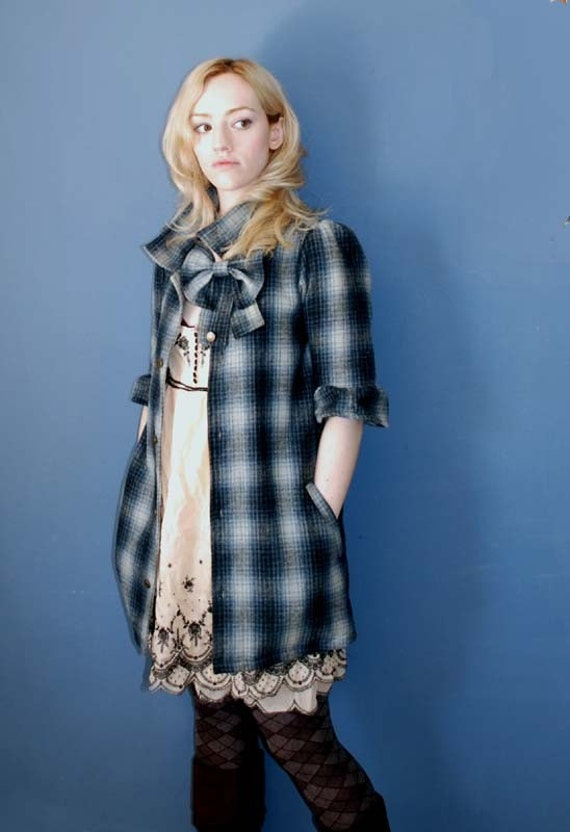 SUMOMOSUKI Wool Flannel Shirt Coat