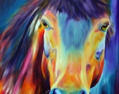 NEW 11x14 inch - Horse oil painting Giclee print on canvas by Doris Joa