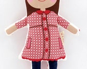 "Custom handmade 12"" girl doll"