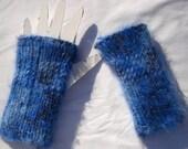 Typist's Friend - Supersoft dark blue wrist-warmers