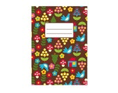 summer in the woods - cute notebook with retro pattern