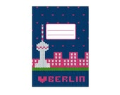 knitted Berlin - notebook with all over print