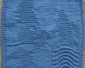 Mermaid Dishcloth PDF Knitting Pattern
