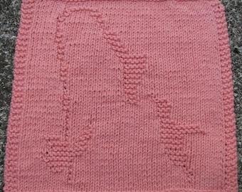 Hummingbird Dishcloth PDF Knitting Pattern