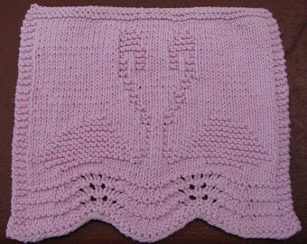 Flamingo Love Dishcloth PDF Knitting Pattern