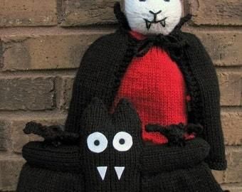 Vampira And Her Batty Minion PDF Knitting Pattern