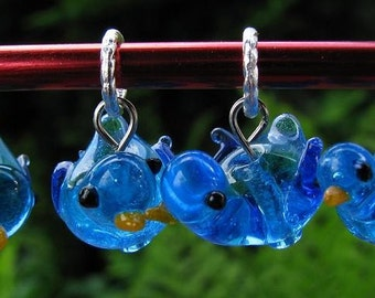 Bluebird Of Happiness Knitting Stitch Markers (Set of 4)