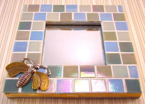 Mini Mosaic Mirror Iridescent Tile THE BUG