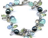 Peruvian Chalcedony And Multi Gem Sterling Silver Bracelet FD368C