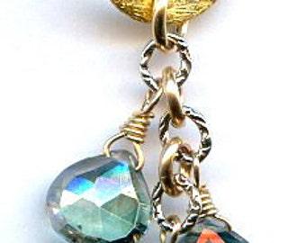 Mystic Green Quartz Briolette Necklace FD687