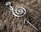 Aluminum Treble Clef Shawl Pin, Musician Gift Scarf Pin, Sweater Clip, Brooch, Fastener, Hair Pin, Closure, Music Jewelry G Clef, Women