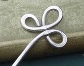 Trinity Clover Loops Aluminum Hair Stick, Shawl Pin, Scarf Pin, Bun Holder, Hair Pick Pin - Women, Long Hair Accessory