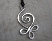 Big Light Weight Aluminum Celtic Budding Spiral Pendant