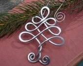 Celtic Tree Ornament - Christmas Ornament - Holiday Ornament - Aluminum Wire - Tree of Life - Home Decor, Housewares Decoration
