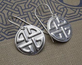 Celtic Knot Earrings, Sterling Silver Celtic Jewelry, Irish Celtic Knot Jewelry Earrings Women Celtic Earrings Handmade Gift Scottish Viking