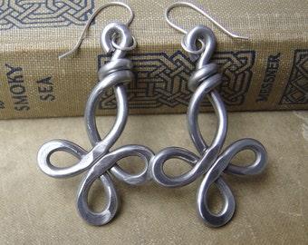 Big Celtic Cross Earrings, Light Weight Aluminum Wire Cross Jewelry, Big Bold Large Jewellery. Big Earrings, Gift for Her, Women, Dangle