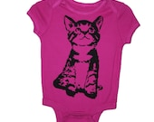 Here Kitty Kitty Berry Pink Infant One Piece