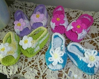 Open Toe Shoes Peek-A-Boo Sandals For Baby in Cotton