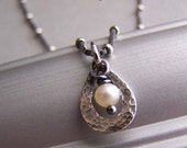 White Pearl Necklace Petite Small Sterling Silver Chain Bridesmaid Jewelry Gifts