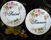 Saint and Sinner plate duo