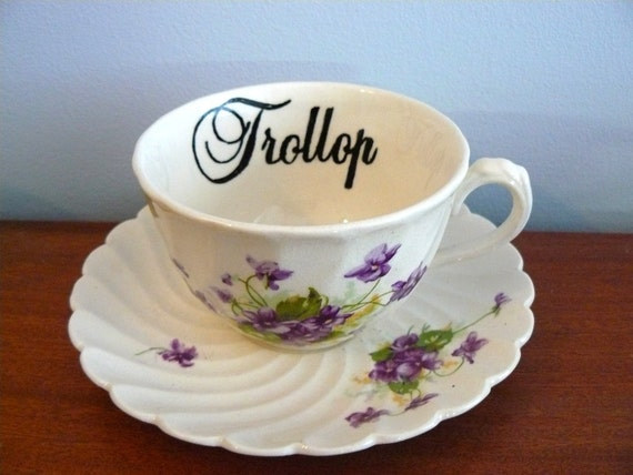 SALE Trollop teacup