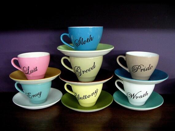 Seven Deadly Sins coffee\/tea set