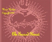 The Sacred Heart of Jesus Filet Crochet Pattern Only