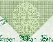 Green Man Shawl Crochet Filet Pattern Only