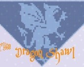 Dragon Shawl in Filet Crochet Pattern Only