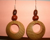 Wood Circle Earrings