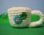 Crochet Flower Mug